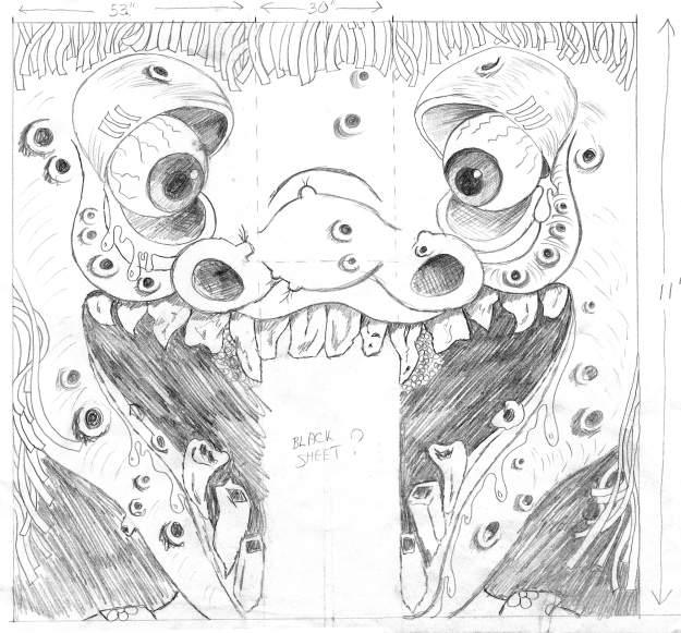 Drawing for Haunted House Production